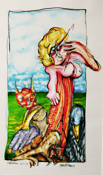 Lady with animals