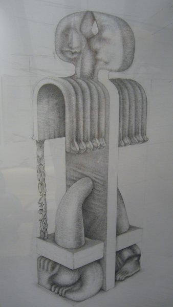 Design for a wooden statue