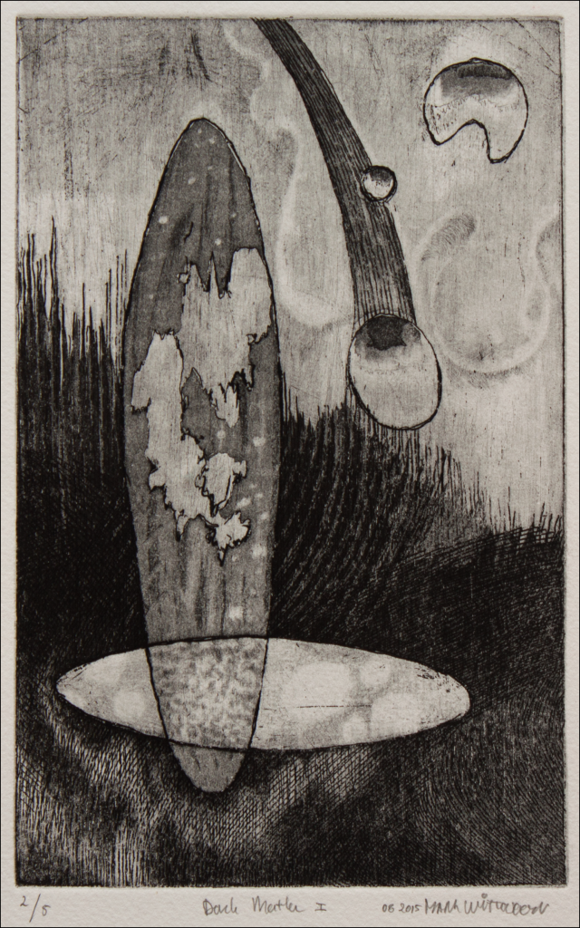 black and white etching / dimensions: 13.5 x 21 cm